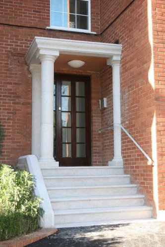 Silver Granite Portico & Steps