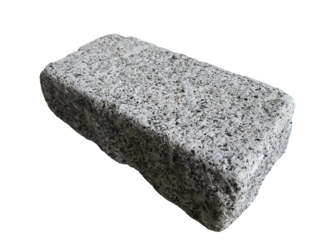 Silver Granite Setts 200 x 100; Split Sides; Lightly Tumbled with a Bush Hammered Top Surface
