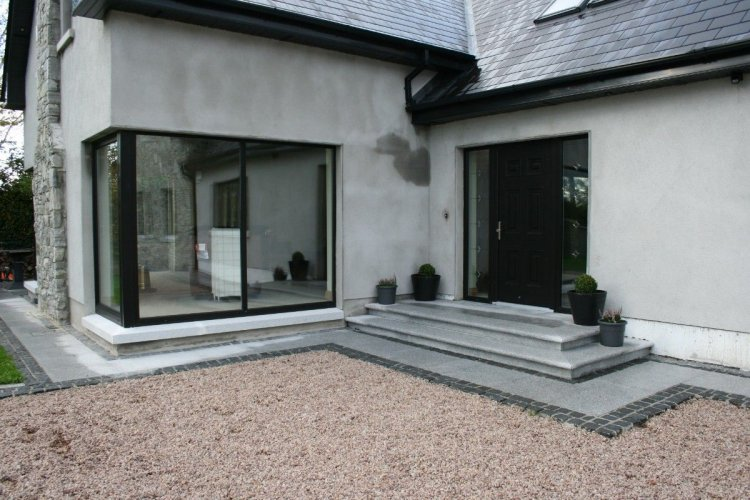 Silver Granite Step Pack - Flamed Finish