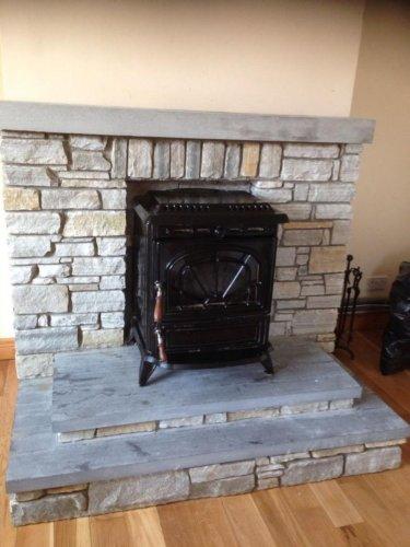 Silver Donegal Quartzite Fireplace  - Machine Block