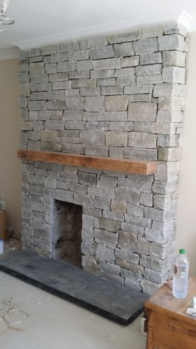 Silver Donegal Quartzite Fireplace  - Stoneer Cladding