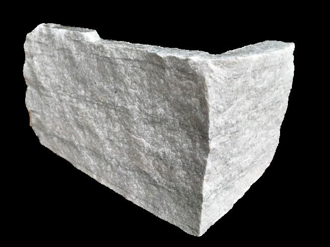 Silver Donegal Quartzite Stoneer - Corner