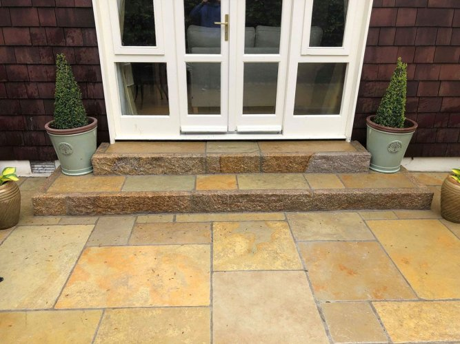 Yellow Limestone Patio Pack By Danar McClure Landscapes (Wet)