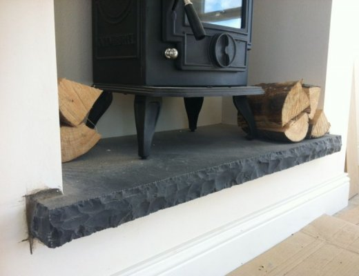 Black Limestone Hearth