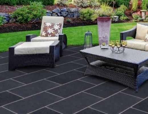 Black Limestone Paving - Single Sizes