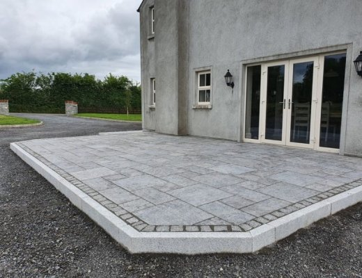 Blue Limestone Paving - Patio Pack (Flamed)