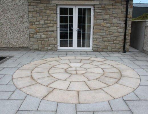 Gold Granite Circle