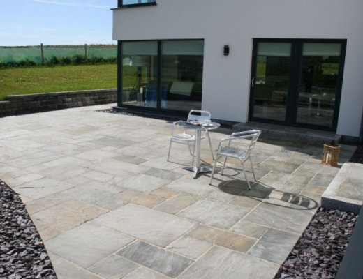 Grey Sandstone Paving - Patio Pack