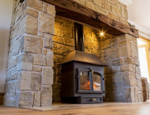 Grit Sandstone Fireplace