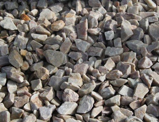 Rose Gold Quartzite Stone Chipping