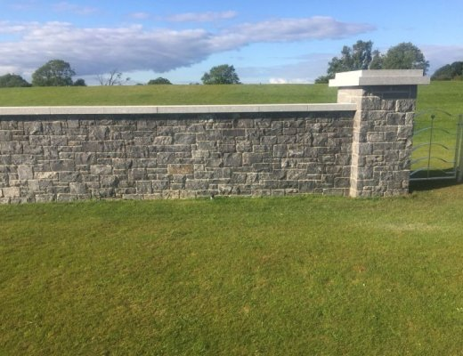 Silver Granite Wall Capping