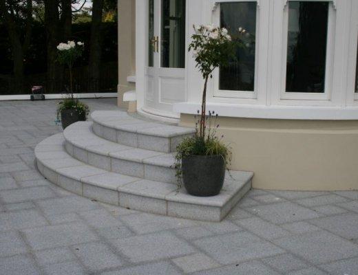 Silver Granite Step - Bespoke