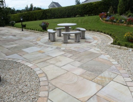 Tinted Mint Sandstone Paving - Patio Pack