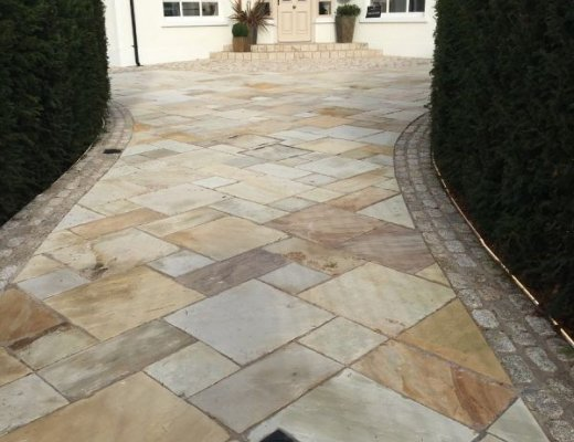 Tinted Mint Sandstone Paving - Single Sizes